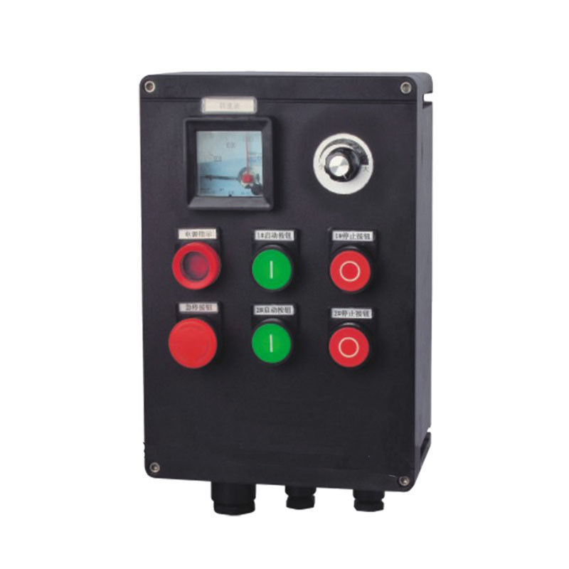 C1D1 / C2D1 Explosion Proof Control Station With Emergency Stop Green Pilot Light
