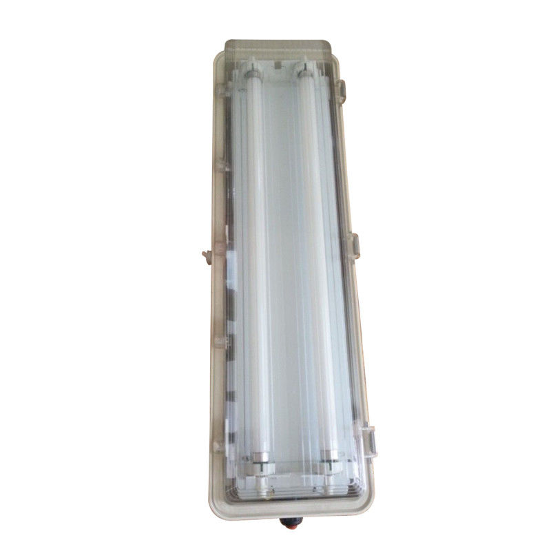T8 / T10 Explosion Proof Fluorescent Lighting , Cold White Tube Light Fixtures